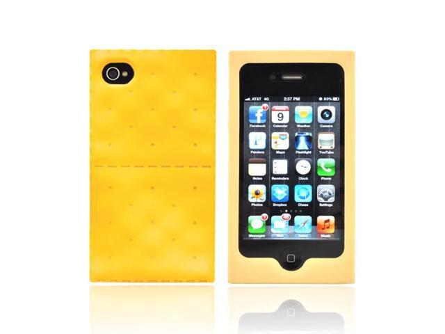 iPhone 4 Case, [Golden Brown] Slim & Flexible Anti-shock Matte Reinforced Silicone Rubber Protective Skin Case Cover for