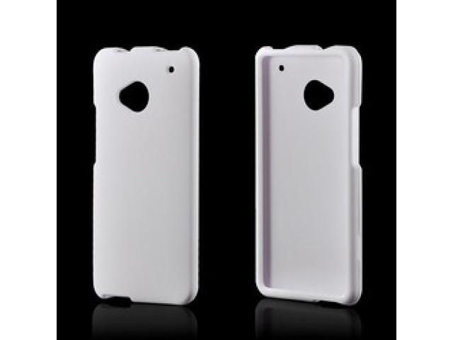 Solid White Rubberized Hard Plastic Case Snap On Cover For HTC One