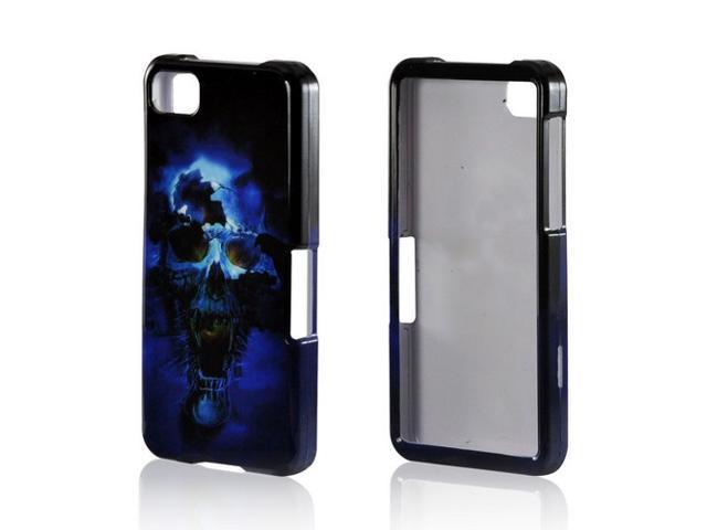 Slim & Protective Hard Case for Blackberry Z10 - Blue Skull