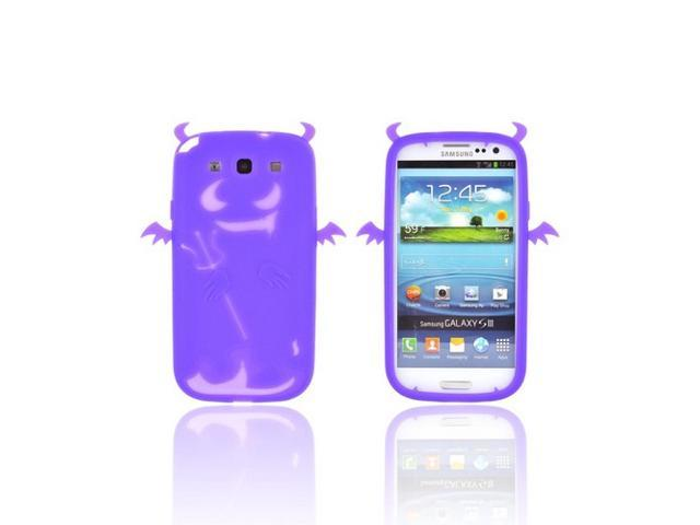 Galaxy S3 Case, [Purple] Slim & Flexible Anti-shock Matte Reinforced Silicone Rubber Protective Skin Case Cover for