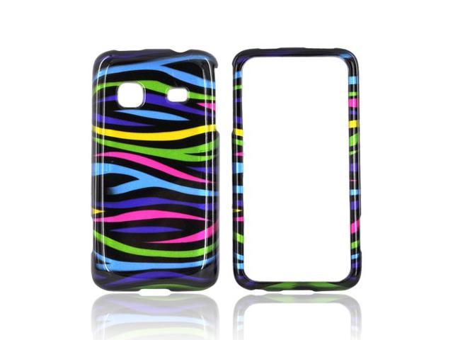 Slim & Protective Hard Case for Samsung Galaxy Prevail M820 - Rainbow Zebra - OEM