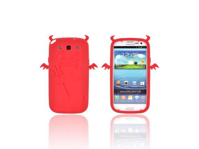 Galaxy S3 Case, [Red] Slim & Flexible Anti-shock Matte Reinforced Silicone Rubber Protective Skin Case Cover for Samsung