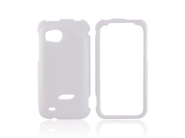 HTC Rezound Rubberized Hard Plastic Case Snap On Cover - Solid White