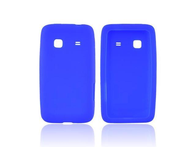 Samsung Galaxy Prevail M820 Rubbery Feel Silicone Skin Case Cover - Blue