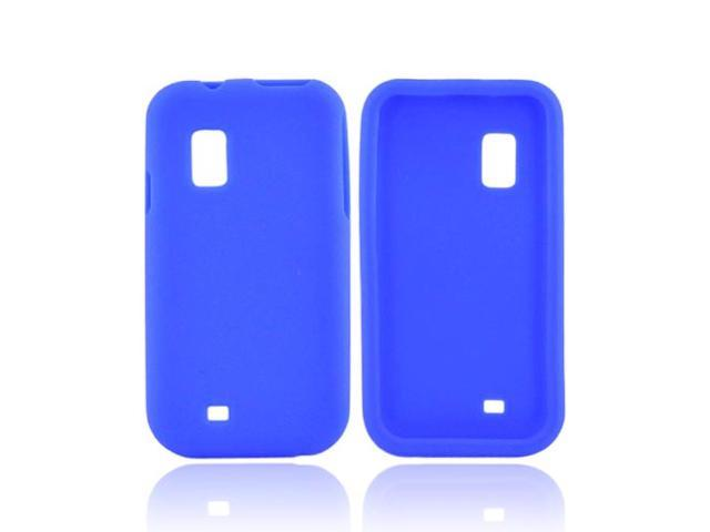 Samsung Fascinate I500 Rubbery Feel Silicone Skin Case Cover - Blue