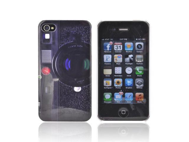 Slim & Protective Hard Case for Apple iPhone 4 / 4S - Old-Fashioned Camera