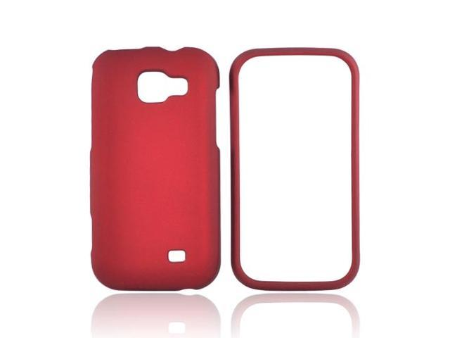 Samsung Transform M920 Rubberized Plastic Case - Red