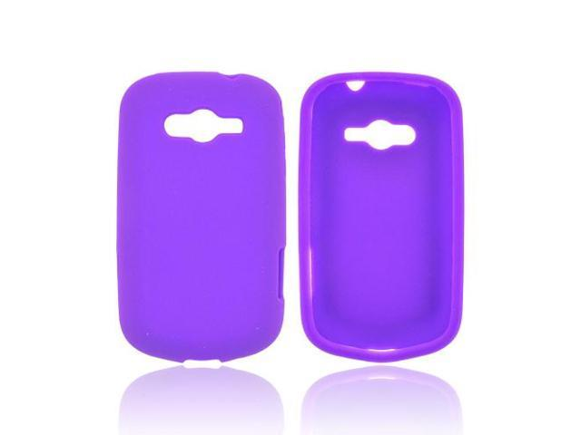 Samsung Galaxy Reverb Rubbery Feel Silicone Skin Case Cover - Purple
