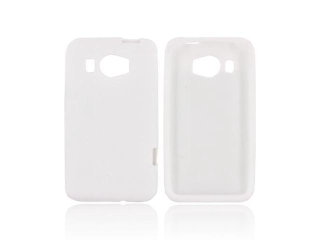 HTC Titan 2 Rubbery Feel Silicone Skin Case Cover - White