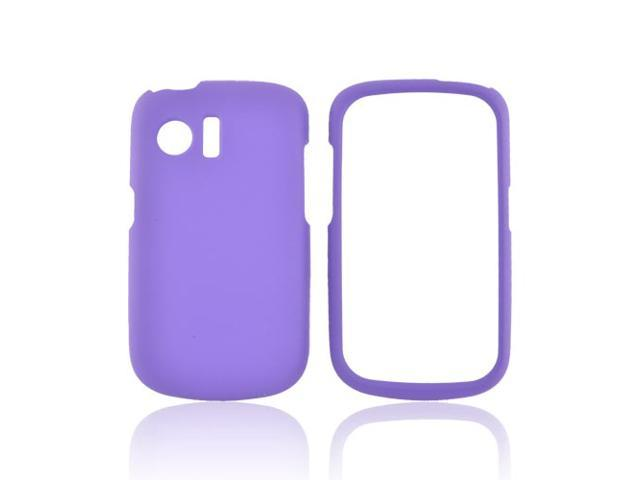 Huawei Pinnacle M635 Rubberized Hard Plastic Case Snap On Cover - Purple