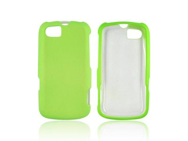 Motorola Admiral Rubberized Hard Plastic Case Snap On Cover - Neon Green