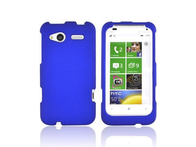 HTC Radar 4g Rubberized Hard Plastic Case Snap On Cover - Blue
