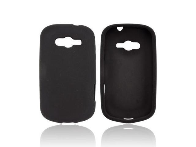Samsung Galaxy Reverb Rubbery Feel Silicone Skin Case Cover - Black