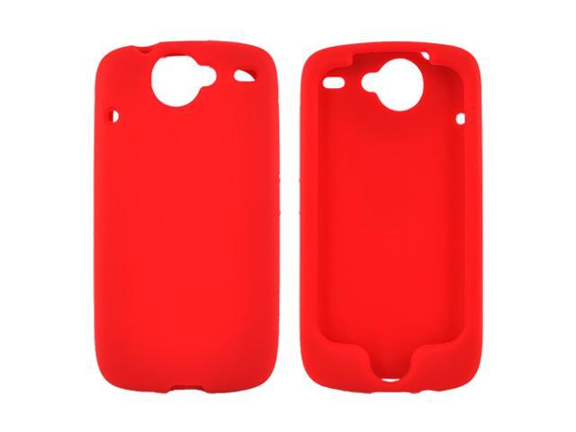 Google Nexus One Rubbery Feel Silicone Skin Case Cover, Rubber Skin - Red