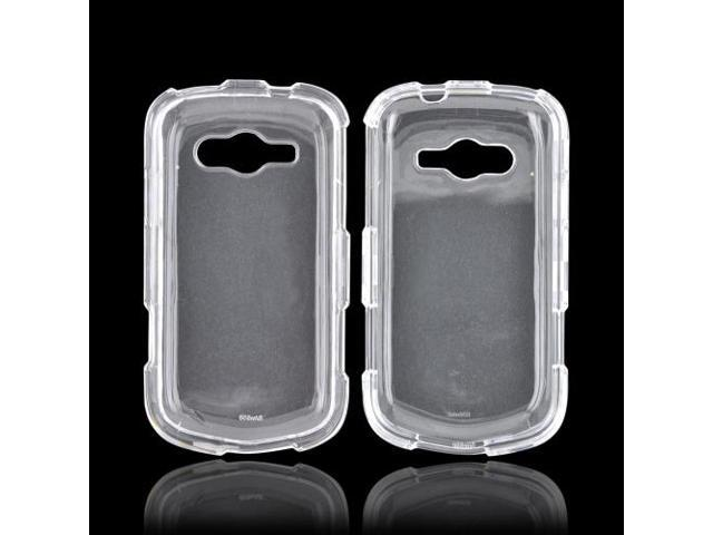 Samsung Galaxy Reverb Case, [Clear] Slim & Protective Crystal Glossy Snap-on Hard Polycarbonate Plastic Case Cover