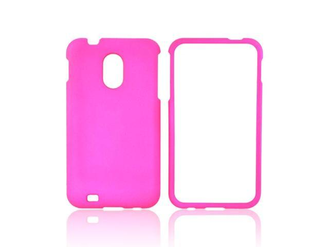 Samsung Epic 4g Touch Rubberized Plastic Case - Hot Pink