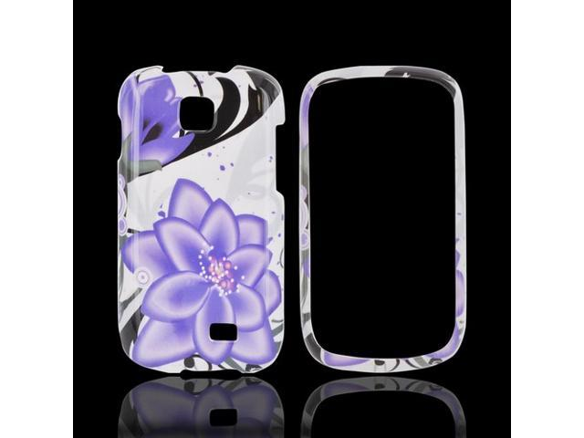Slim & Protective Hard Case for Samsung Galaxy Appeal - Purple Lily on White