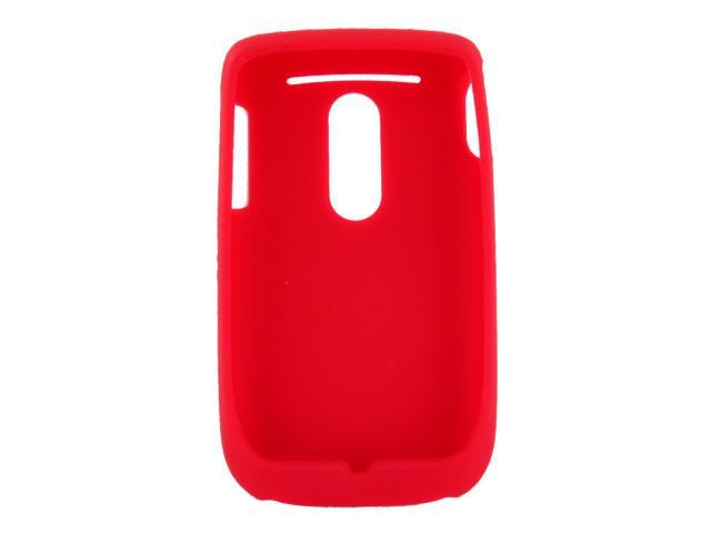 HTC Dash 3g S522 Rubbery Feel Silicone Skin Case Cover, Rubber Skin - Red