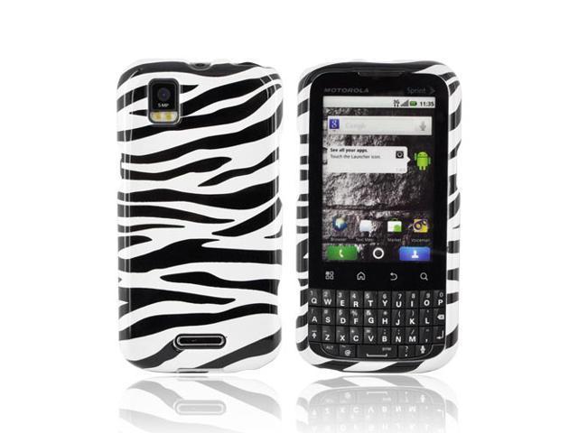 Slim & Protective Hard Case for Motorola XPRT MB612 - Black / White Zebra