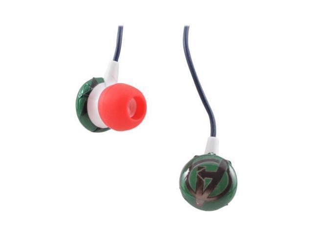 Officially Licensed Marvel Universal Stereo Earbud Headset (3.5mm) - Green Avengers Logo