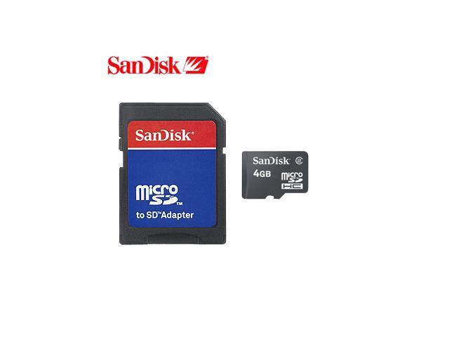 Sandisk 4gb Micro SD Memory Card W/ SD Adapters
