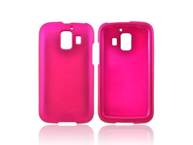 AT&t Huawei Fusion 2 U8665 Rubberized Hard Plastic Case Snap On Cover - Rose Pink