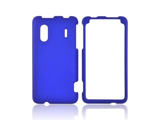 HTC EVO Design 4g Rubberized Hard Plastic Case Snap On Cover - Blue