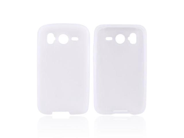 Frost White Rubber Feel Silicone Skin Case Cover For HTC Inspire 4G