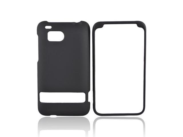 BLACK For HTC Thunderbolt Rubberized Hard Case Cover