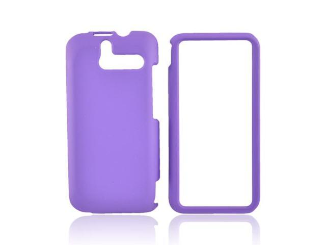 Purple Rubberized Hard Plastic Snap On Case Cover For HTC Arrive