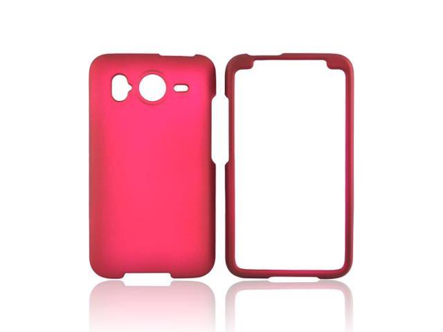 Rose Pink Rubberized Hard Plastic Snap On Case Cover For HTC Inspire 4G