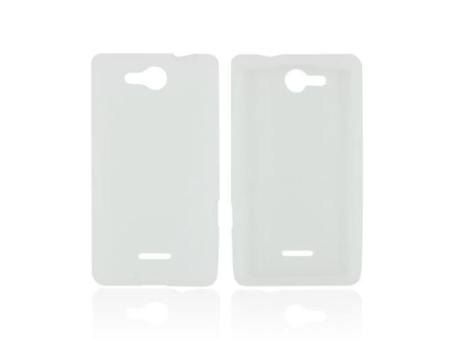 Frost White Rubbery Feel Silicone Skin Case Cover For LG Lucid Vs840