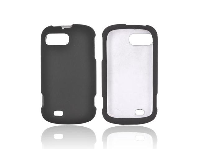 Black Hard Rubberized Snap On Case Cover For ZTE Fury N850