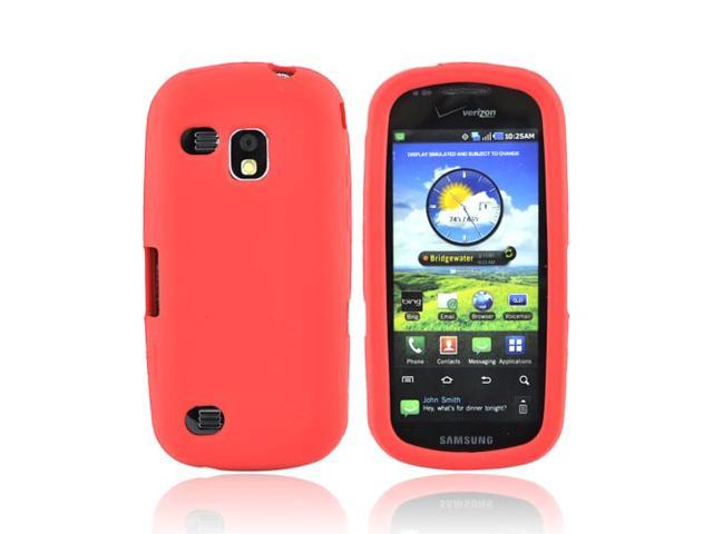 Red Rubber Feel Silicone Skin Case Cover For Samsung Continuum i400