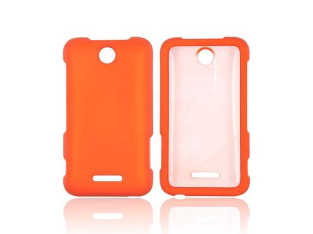 Orange Hard Rubberized Snap On Case Cover For ZTE Score