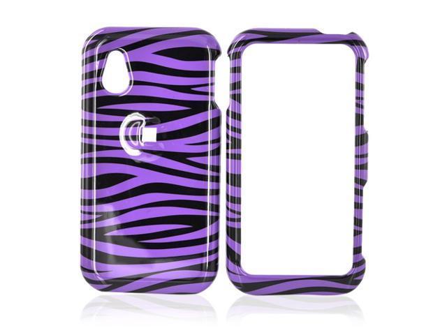 LG Opera TV Hard Plastic Case - Purple/black Zebra