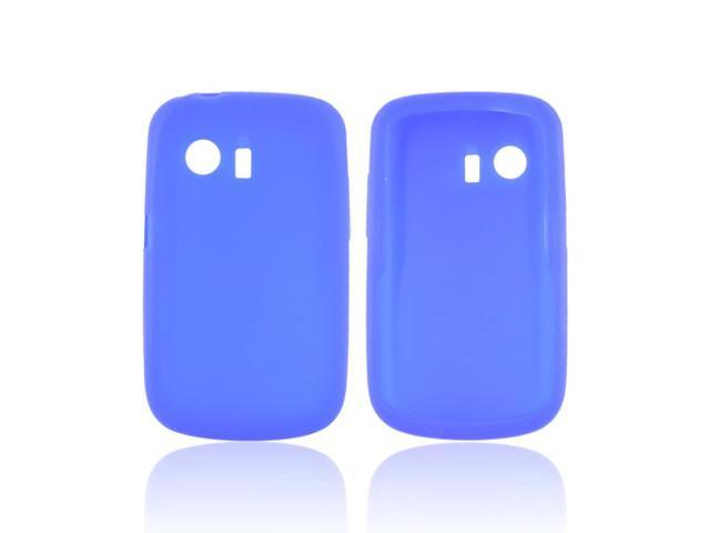 Blue Rubbery Feel Silicone Skin Case Cover For Huawei Pinnacle M635