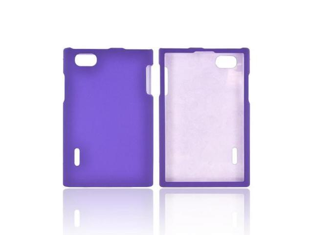 LG Optimus Vu Vs950 Rubberized Plastic Snap On Cover - Purple