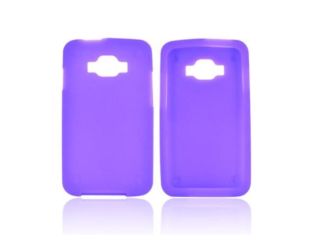 Purple Rubbery Feel Silicone Skin Case Cover For Samsung Rugby Smart I847