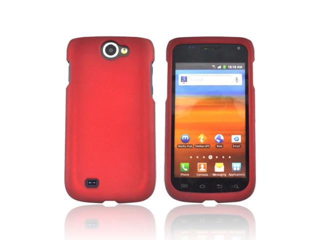 Red Rubberized Hard Plastic Case Snap On Cover For Samsung Exhibit 2 4g