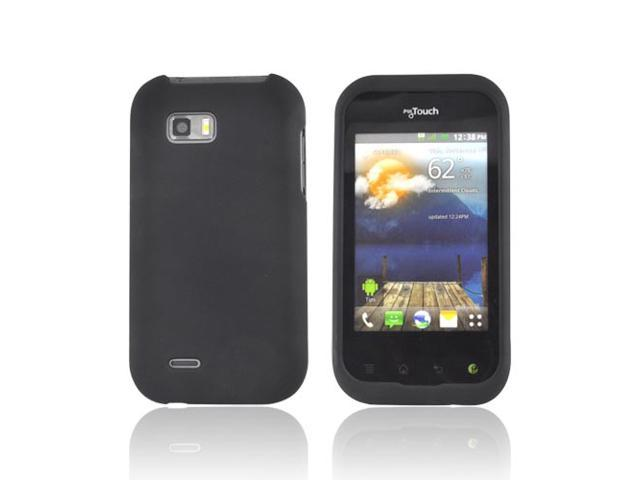 Black Rubberized Hard Plastic Case Snap On Cover For T-mobile Mytouch Q