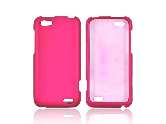 HTC One V Rubberized Hard Case - Rose Pink