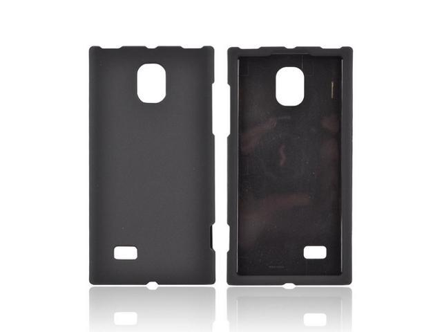 LG Spectrum 2 Rubberized Hard Plastic Case Snap On Cover - Black