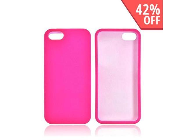 Apple iPhone 5 / 5S Case, [Hot Pink] Slim & Protective Rubberized Matte Finish Snap-on Hard Polycarbonate Plastic Case
