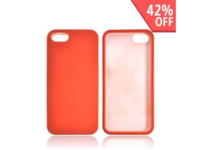 Apple New Iphone Rubberized Hard Plastic Case Snap On Cover - Orange