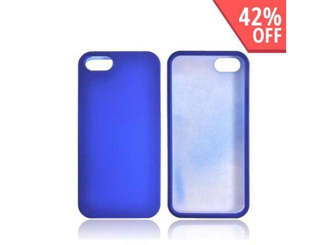 Apple iPhone 5 / 5S Case, [Blue] Slim & Protective Rubberized Matte Finish Snap-on Hard Polycarbonate Plastic Case Cover