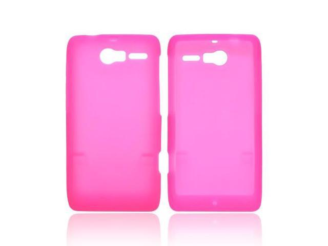 Motorola Droid RAZR M Rubbery Feel Silicone Skin Case Cover - Hot Pink