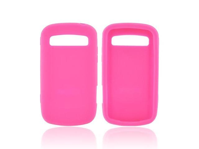 Hot Pink Rubber Feel Silicone Skin Case Cover For Samsung Rookie Admire R720