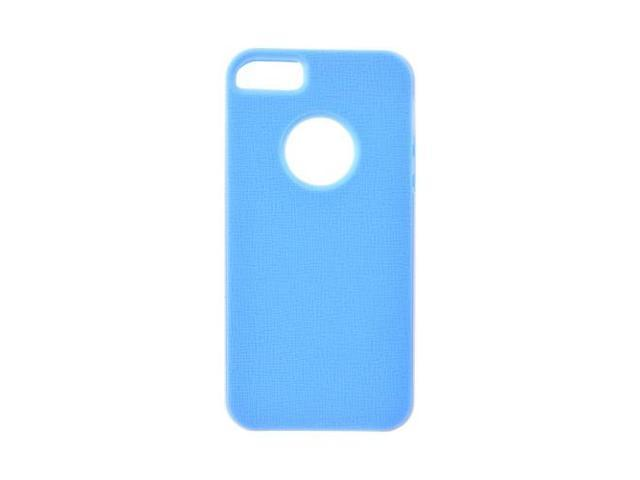 Apple iPhone 5 / 5S Case, [Sky Blue] Slim & Flexible Anti-shock Crystal Silicone Protective TPU Gel Skin Case Cover