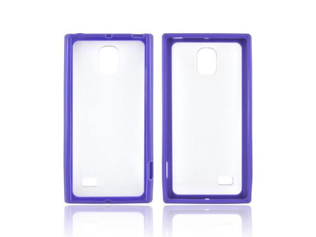 LG Spectrum 2 Hard Back Case W/ Gummy Crystal Silicone Lining - White/ Frost White